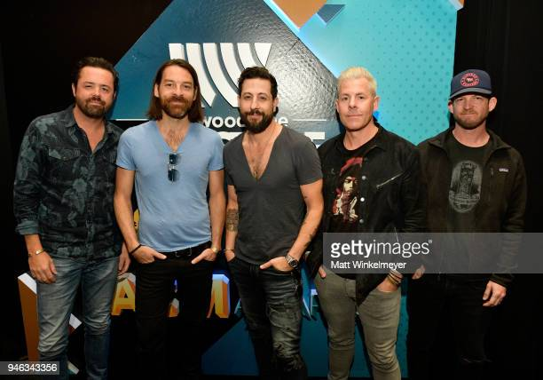 Trevor Rosen Geoff Sprung Whit Sellers Matthew Ramsey and Brad Tursi from musical group Old Dominion attend the 53rd Academy of Country Music Awards...