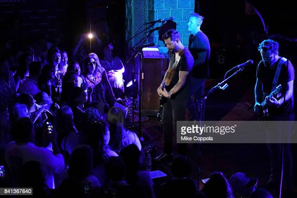 Trevor Rosen Matthew Ramsey and Brad Tursi of Old Dominion perform a private concert for SiriusXM at The Cutting Room airing live on SiriusXM on...