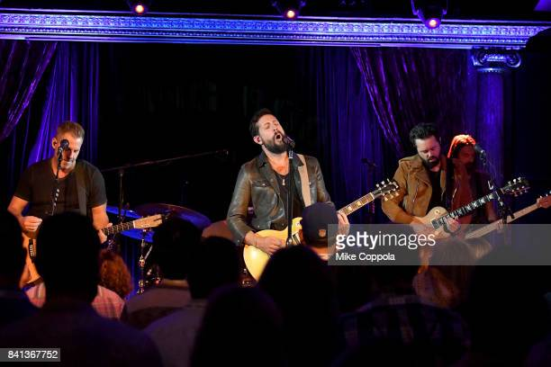 Trevor Rosen Matthew Ramsey Brad Tursi and Geoff Sprung of Old Dominion perform a private concert for SiriusXM at The Cutting Room airing live on...