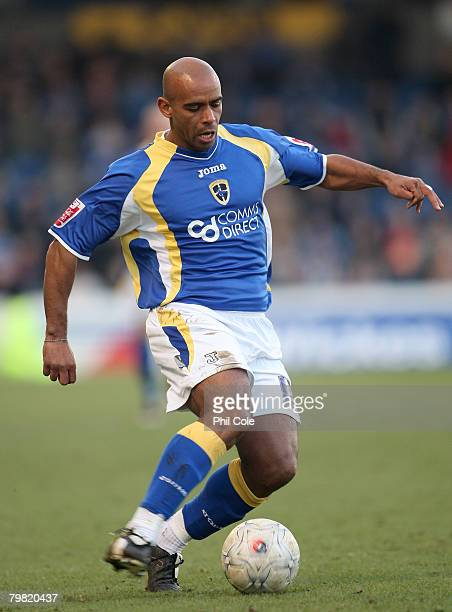 Trevor Sinclair of Cardiff City during the FA Cup Fifth Round match sponsored by Eon between Cardiff City and Wolverhampton Wanderers at Ninian Park...
