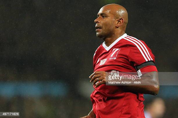 Trevor Sinclair of Great Britain and Ireland XI during the David Beckham Match for Children in aid of UNICEF at Old Trafford on November 14 2015 in...