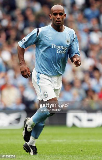 Trevor Sinclair of Manchester City in action during the Barclays Premiership match between Manchester City and Charlton Athletic at The City of...