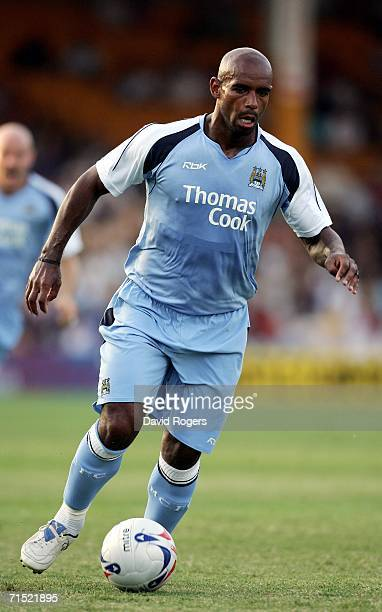 Trevor Sinclair of Manchester City on the ball during the preseason friendly match between Port Vale and Manchester City at Vale Park on July 26 2006...