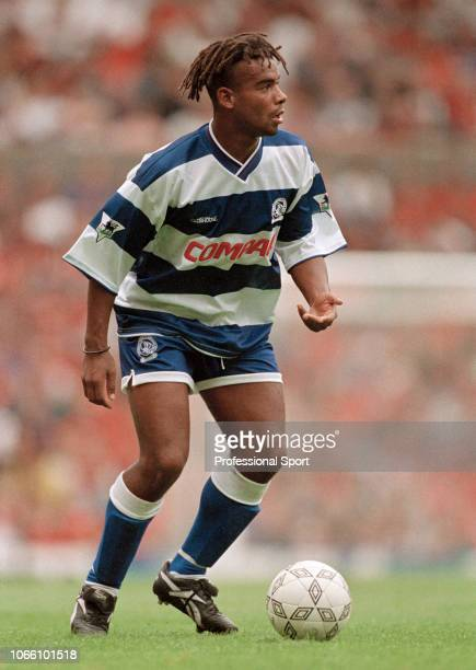 Trevor Sinclair of Queens Park Rangers in action during the FA Carling Premiership match between Manchester United and Queens Park Rangers at Old...