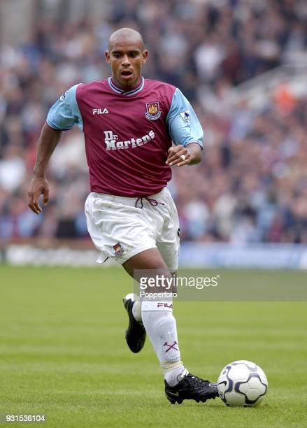 Trevor Sinclair of West Ham United in action during the FA Barclaycard Premiership match between West Ham United and Bolton Wanderers at Upton Park...