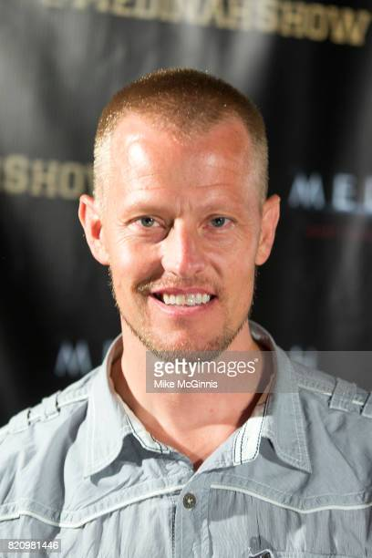 Trevor Snarr attends the International SciFi Series 'Medinah' premiere and red carpet reception at ComicCon International 2017 at The Manchester...