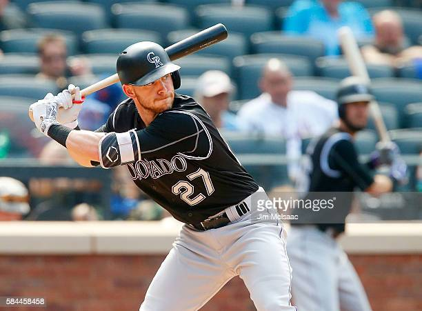 Trevor Story of the Colorado Rockies in action against the New York Mets at Citi Field on July 28 2016 in the Flushing neighborhood of the Queens...