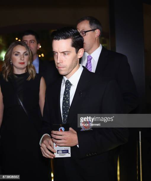 Trevor Strader walks the red carpet prior to the Hockey Hall of Fame induction ceremony at Brookfield Place on November 13 2017 in Toronto Canada