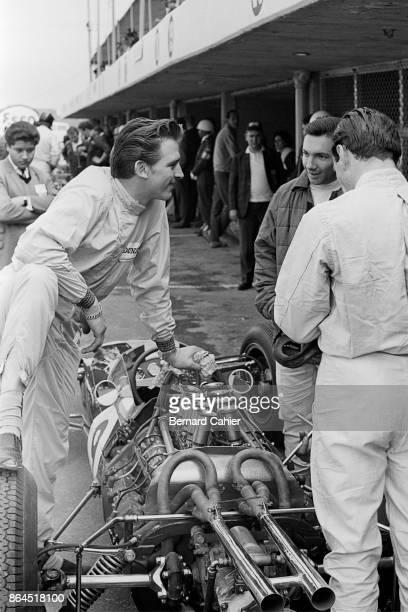 Trevor Taylor Pedro Rodriguez Jim Clark LotusClimax 25 Grand Prix of Mexico Autodromo Hermanos Rodriguez Magdalena Mixhuca 27 October 1963 Pedro...