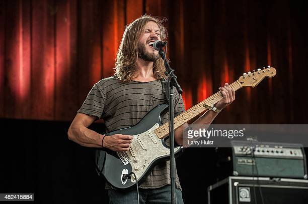 Trevor Terndrip is performing with 'Moon Taxi' They are performing at the Ride festival in Telluride Colorado on July 12 2015