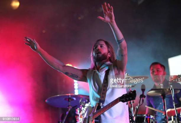 Trevor Terndrup and Tyler Ritter of the band Moon Taxi perform during the Enterprise NHL AllStar Friday Night at Curtis Hixon Park on January 26 2018...