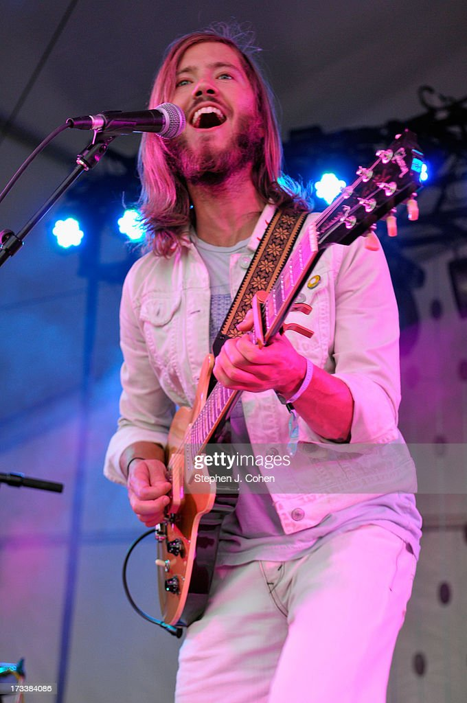 Trevor Terndrup of Moon Taxi performs during the 2013 Forecastle Festival at Waterfront Park on July 12, 2013 in Louisville, Kentucky.