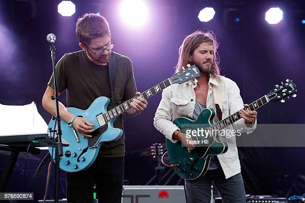 Trevor Terndrup of Moon Taxi performs during the 2016 Forecastle Festival at Waterfront Park on July 15 2016 in Louisville Kentucky