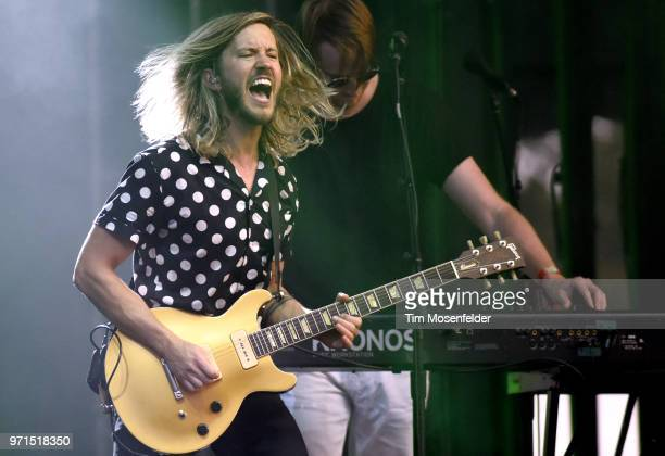 Trevor Terndrup of Moon Taxi performs during the 2018 Bonnaroo Music Arts Festival on June 10 2018 in Manchester Tennessee