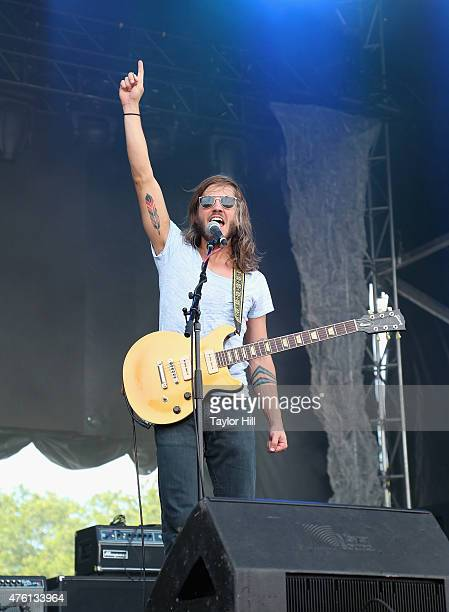Trevor Terndrup of Moon Taxi performs onstage during 2015 Governors Ball Music Festival at Randall's Island on June 6 2015 in New York City
