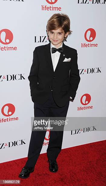 Trevor Thompson arrives at the 'Liz Dick' Los Angeles Premiere at the Beverly Hills Hotel on November 20 2012 in Beverly Hills California