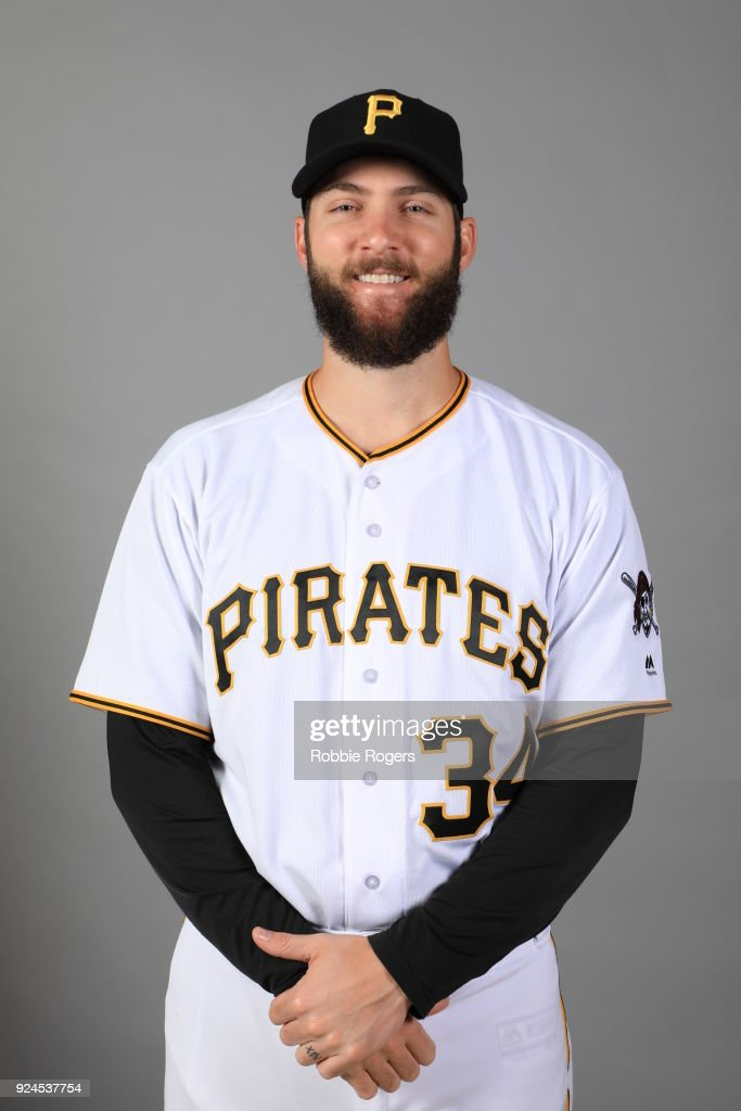 Trevor Williams #34 of the Pittsburgh Pirates poses during Photo Day on Wednesday, February 21, 2018 at LECOM Park in Bradenton, Florida.