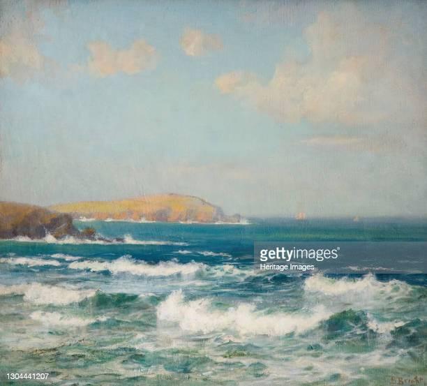 Trevose Head, Cornwall, 1900-1940. Artist Beatrice Bright.