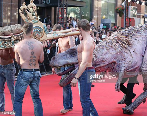 Rex snaps at litter bearers on the red carpet at the Much Music Video Awards at MuchMusic on Queen Street West in Toronto June 15 2014