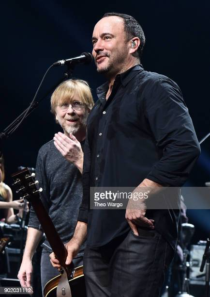 Trey Anastasio and Dave Matthews perform during 'A Concert For Island Relief' at Radio City Music Hall on January 6 2018 in New York City