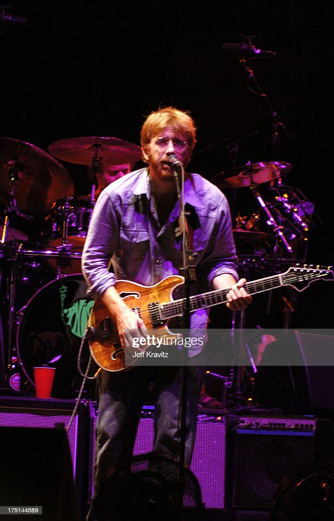 Trey Anastasio (front) and Jon Fishman of Phish during Phish Coventry Festival 2004 - Day 1 at Coventry in Newport, Vermont, United States.