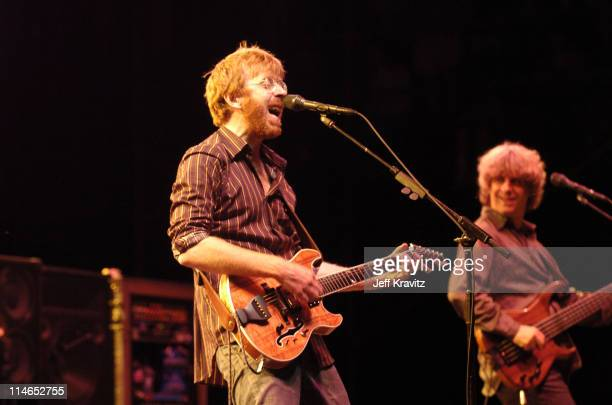 Trey Anastasio and Mike Gordon of Phish during Phish Coventry Festival 2004 Day 2 at Coventry in Newport Vermont United States