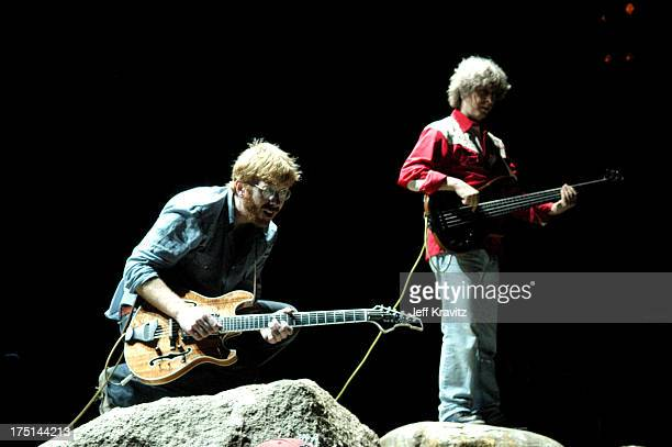 Trey Anastasio and Mike Gordon of Phish during Phish Coventry Festival 2004 - Day 1 at Coventry in Newport, Vermont, United States.