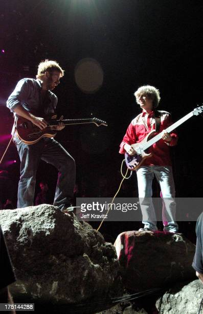 Trey Anastasio and Mike Gordon of Phish during Phish Coventry Festival 2004 Day 1 at Coventry in Newport Vermont United States