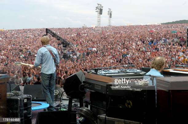 Trey Anastasio and Page McConnell of Phish during Phish Coventry Festival 2004 - Day 1 at Coventry in Newport, Vermont, United States.