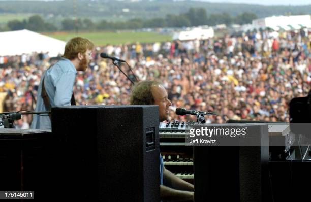 Trey Anastasio and Page McConnell of Phish during Phish Coventry Festival 2004 Day 1 at Coventry in Newport Vermont United States