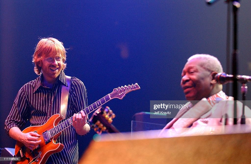 Trey Anastasio & BB King during Phish Live in New Jersey at Continental Airlines Arena in Secaucus, New Jersey, United States.