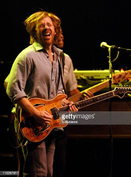 Trey Anastasio during From the Big Apple to the Big Easy Radio City Music Hall Show at Radio City Music Hall in New York City New York United States