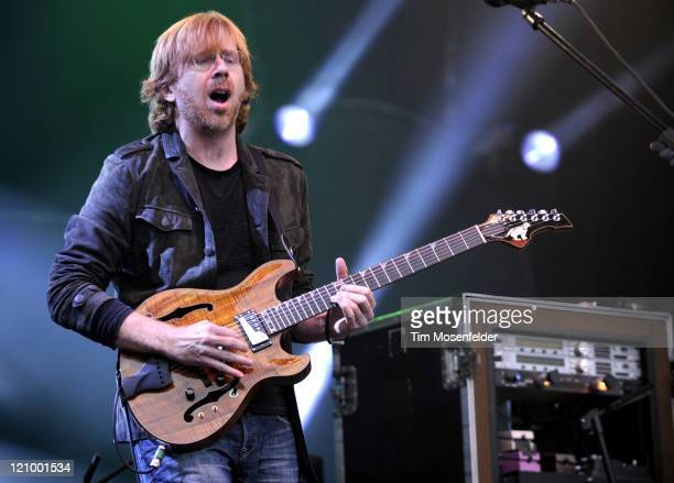 Trey Anastasio of Phish performs at Day One of the Outside Lands Music Art Festival at Golden Gate Park on August 12 2011 in San Francisco California
