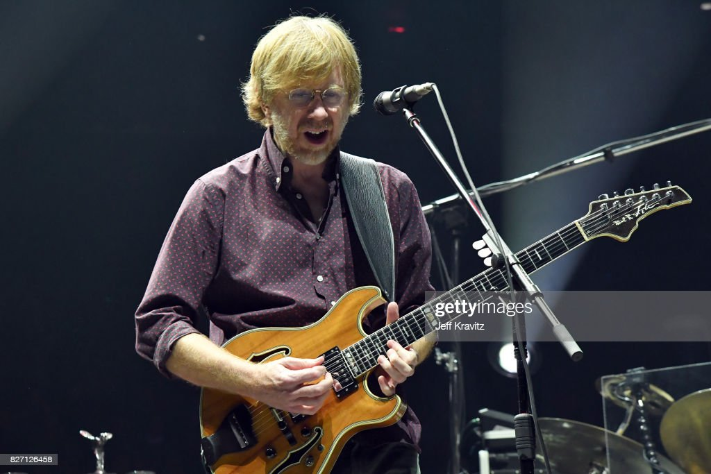 Trey Anastasio of Phish performs during 'The Baker's Dozen' Closing Night at Madison Square Garden on August 6, 2017 in New York City.