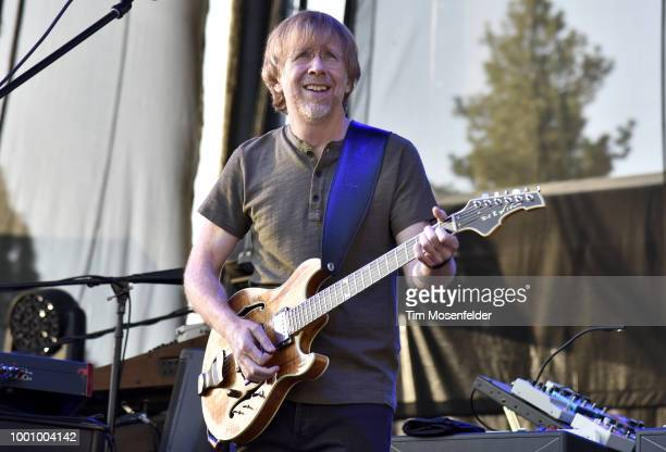Page McConnell of Phish performs during the band's 2018 Summer Tour opening night at Lake Tahoe Outdoor Arena At Harveys on July 17 2018 in Stateline...