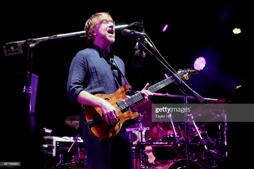 Trey Anastasio of Phish performs during their sold-out three-night end to their 2015 Summer Tour at Dick's Sporting Goods Park on September 4, 2015 in Commerce City, Colorado.