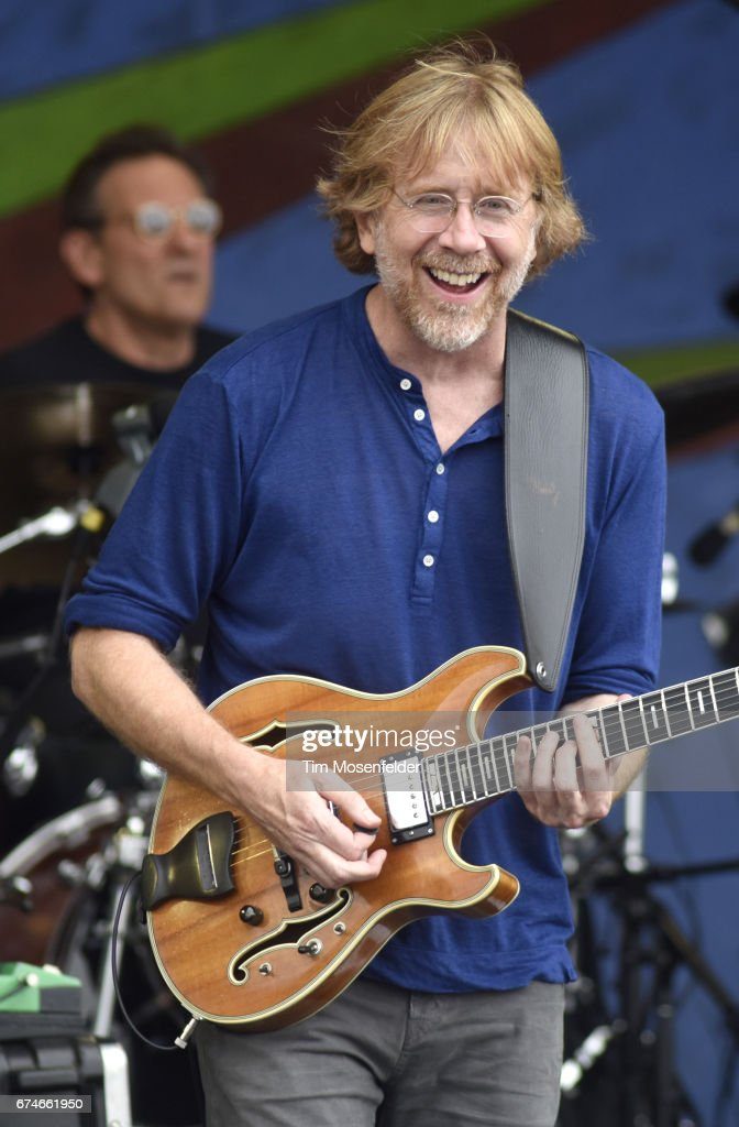 Trey Anastasio of the Trey Anastasio Band performs during the 2017 New Orleans Jazz & Heritage Festival at Fair Grounds Race Course on April 28, 2017 in New Orleans, Louisiana.