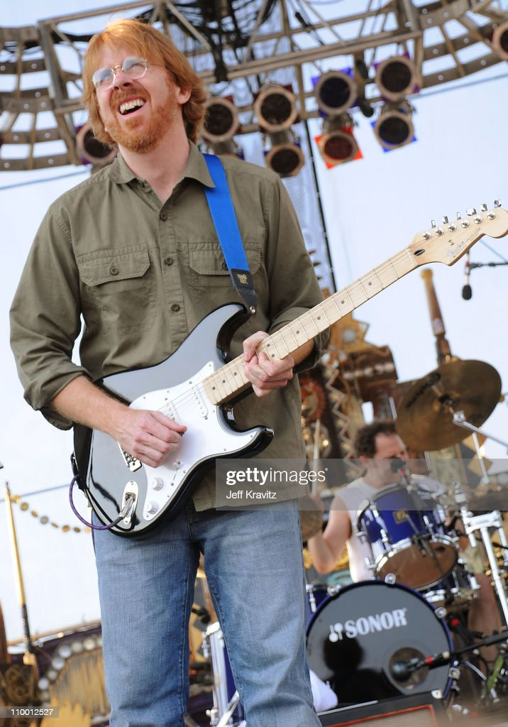 Trey Anastasio performs with Mike Gordon's band on the Ranch Sherwood Court Stage during the Rothbury Music Festival 08 on July 6, 2008 in Rothbury, Michigan.