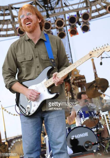 Trey Anastasio performs with Mike Gordon's band on the Ranch Sherwood Court Stage during the Rothbury Music Festival 08 on July 6 2008 in Rothbury...