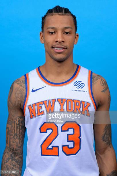Trey Burke of the New York Knicks poses for a head shot at the Madison Square Garden Training Center on February 10 2018 in Tarrytown New York NOTE...
