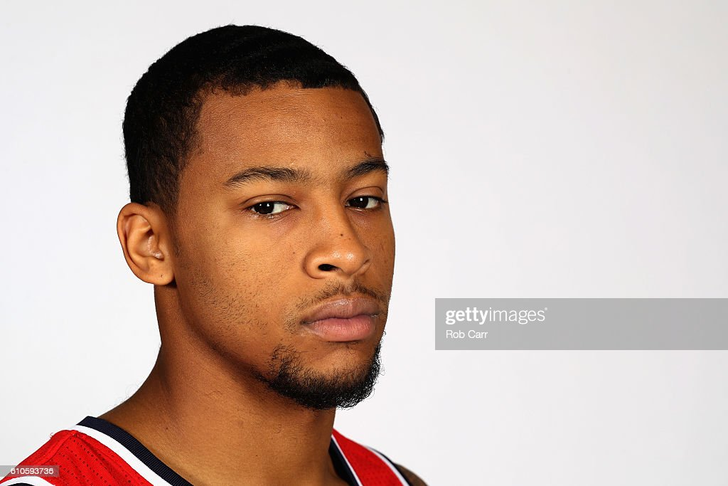 Trey Burke #33 of the Washington Wizards poses during media day at Verizon Center on September 26, 2016 in Washington, DC.