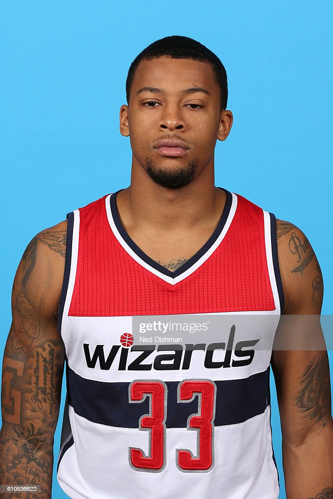 Trey Burke #33 of the Washington Wizards poses for a head shot during the 2016-2017 Media Day on September 26, 2016 at the Verizon Center in Washington, DC.
