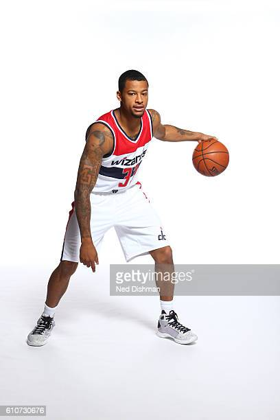 Trey Burke of the Washington Wizards poses for a portrait during the 20162017 Media Day on September 26 2016 at the Verizon Center in Washington DC...