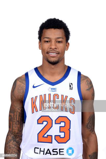 Trey Burke of the Westchester Knicks poses for a head shot during the NBA GLeague media day on October 31 2017 in Tarrytown New York NOTE TO USER...