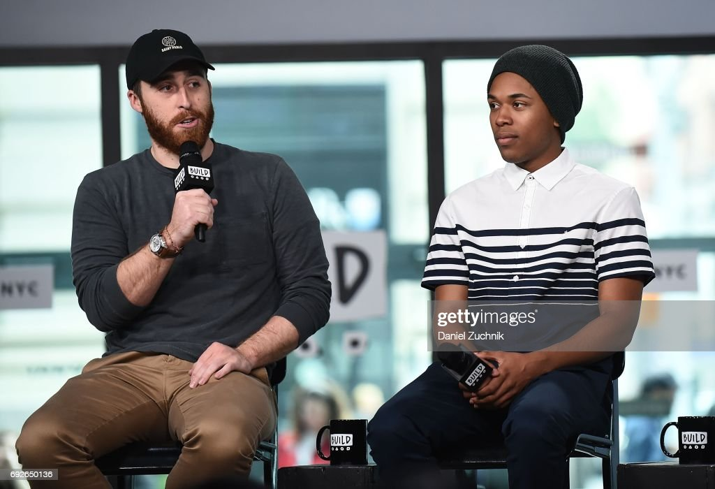 Trey Edward Shults and Kelvin Harrison Jr attend the Build Series to discuss the new film 'It Comes at Night' at Build Studio on June 5, 2017 in New York City.