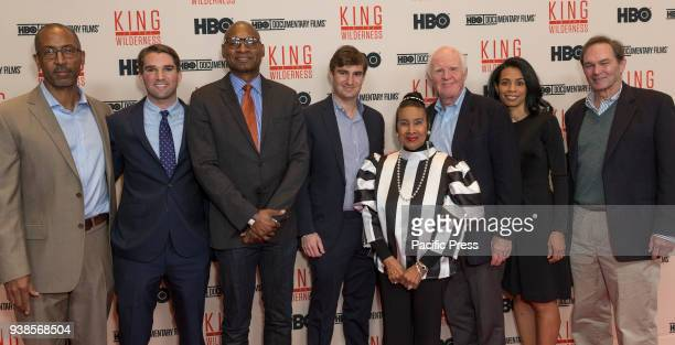 Trey Ellis George Kunhardt Charles Blow Teddy Kunhardt Xernona Clayton Taylor Branch Jacquelene Glover Peter Kunhardt attend King in the wilderness...