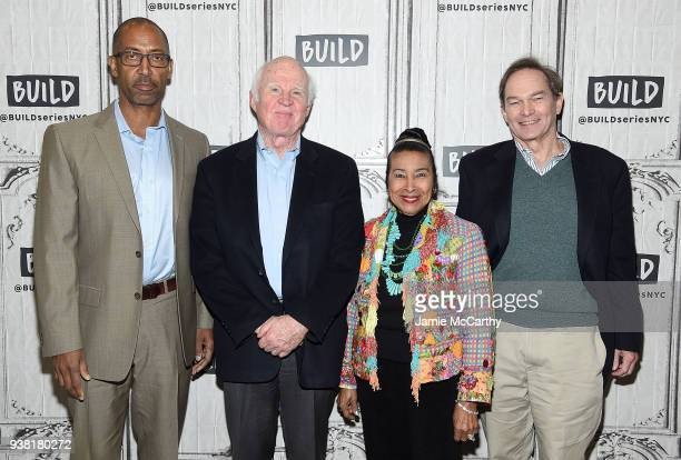 Trey EllisTaylor Branch Xernona Clayton and Peter Kunhardt visit Build series to discuss theri film 'King in the Wilderness' at Build Studio on March...