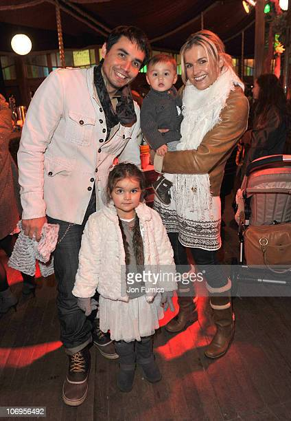 Trey Farley Katy Hill daughter Kaya and son Akira attend the VIP launch of Winter Wonderland at Hyde Park on November 18 2010 in London England