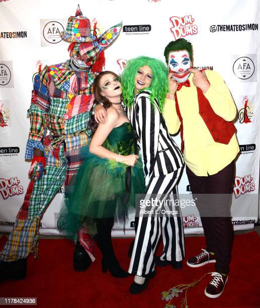 Trey Haines Madison McDermott Alyssa Marchelletta and Jeff Marchelletta attend Mateo Simon's Annual Teen Line Charity Halloween Bash held at a...