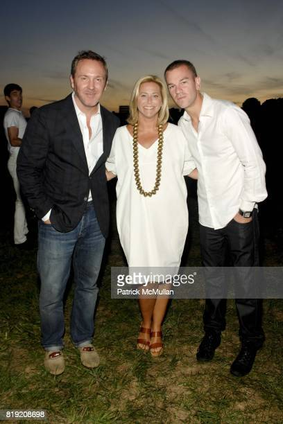 Trey Laird Jenny Laird and Josh Reed attend ACRIA's Annual 'Cocktails at Sunset' Presented by Calvin Klein Collection Vanity Fair at Private...